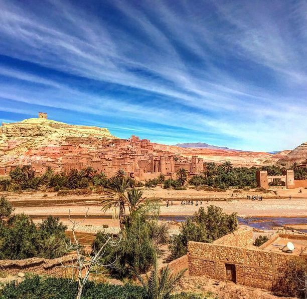 Ait Ben Haddou, Ouled Khellouf, Morocco — by Paige Tocco. Trekking from Marrakech to the Sahara desert. #berbervillage #stunningstructures #unesco