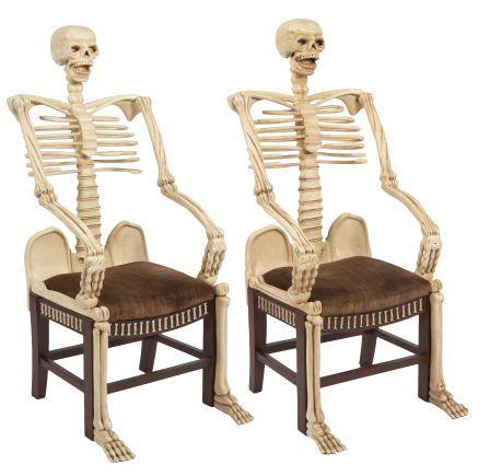 ஜ 18th-century Skeleton Armchairs Collection of Vincent Price ஜ