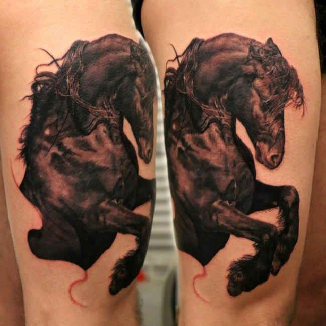 119 best images about horse tattoos on pinterest for Horse jumping tattoos