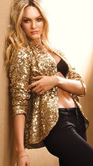 love.Sequins Blazers, Holiday Parties, Blackgold, Candice Swanepoel, Victoria Secret, Gold Sequins, Parties Outfit, Black Gold, Black Pants