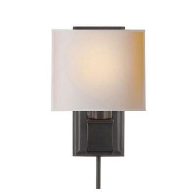 Box sconce in bronze Reg. $675.00 CLEARANCE $165.00. While supplies last.