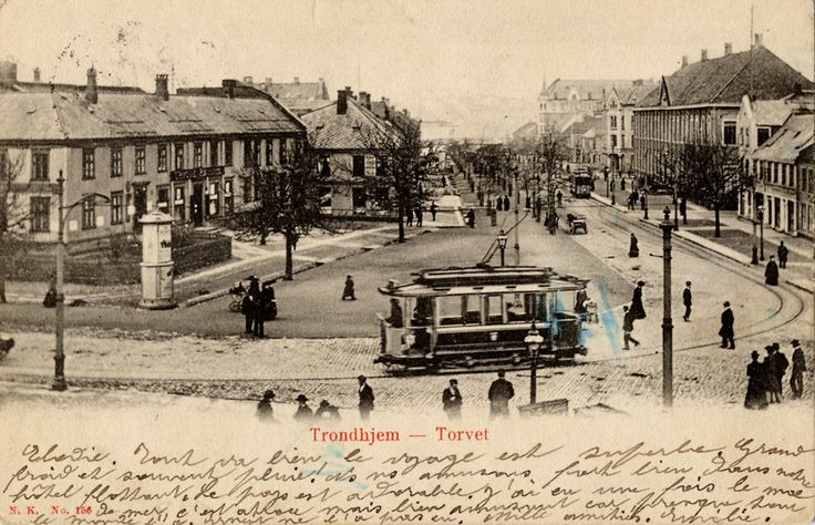 Tram in Trondheim in the early 1900s