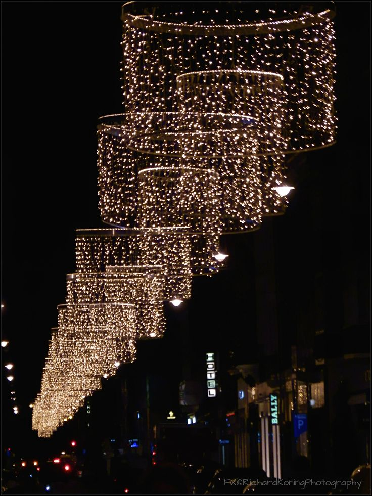 PC Hooftstraat Lights by Night Amsterdam