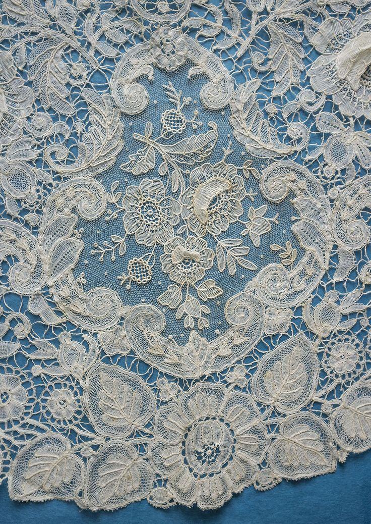 Антикварные брюссельские герцогини и точечный капюшон - двойные розы | eBay