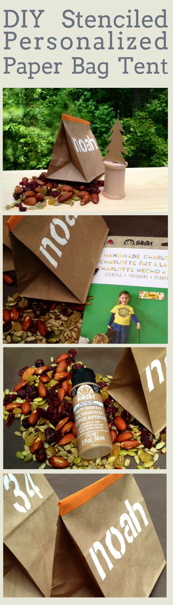 Super Cute Diy Personalized Paper Bag Tent To Craft For