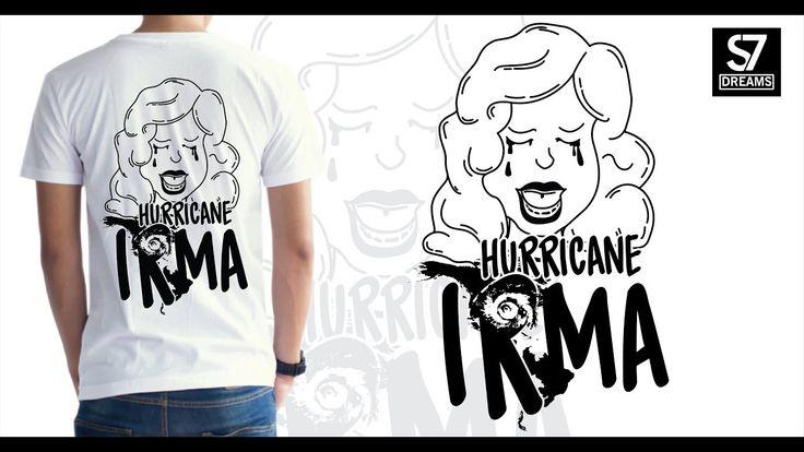 Badai Irma T-shirt Design
