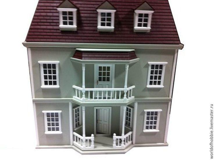 Купить Домик для кукольной миниатюры - серый, кукольная миниатюра, кукольный домик, викторианский стиль