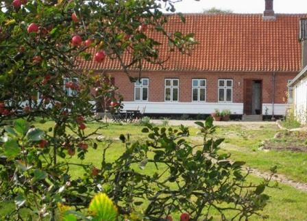 The house seen from the road, Æblegaarden B&B, Langeland, Denmark, www.aeblegaarden.dk