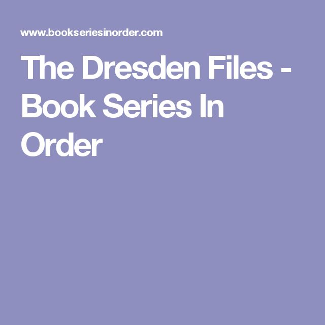 The Dresden Files - Book Series In Order