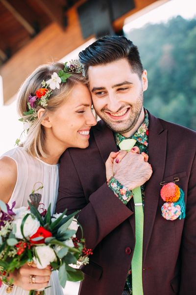 colorful couple | Veronica Varos #wedding