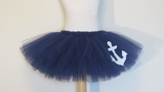 Sailor Costume Tutu Skirt Navy Blue Baby Newborn Anchor Sailor Skirt Photo Prop by American Blossoms on Etsy, $30.00