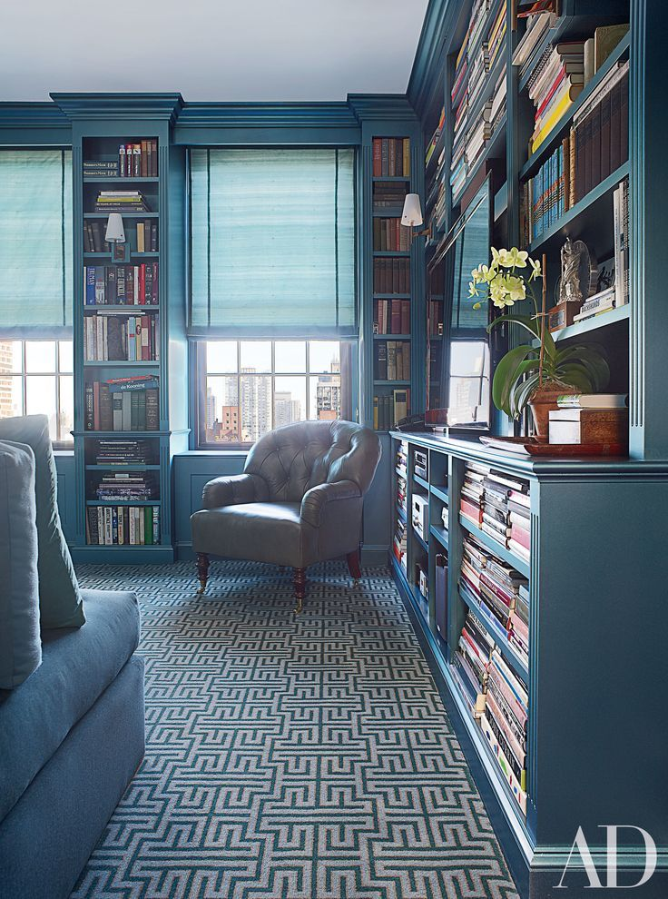 30 Stunning Home Libraries That Are a Book Lover's Dream | Armchairs