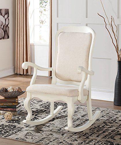 ACME Furniture 59388 Sharan Rocking Chair, Antique white