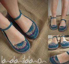 zapatos tejidos zapatos tejidos algodon,goma eva,suela neumatico tejido a crochet