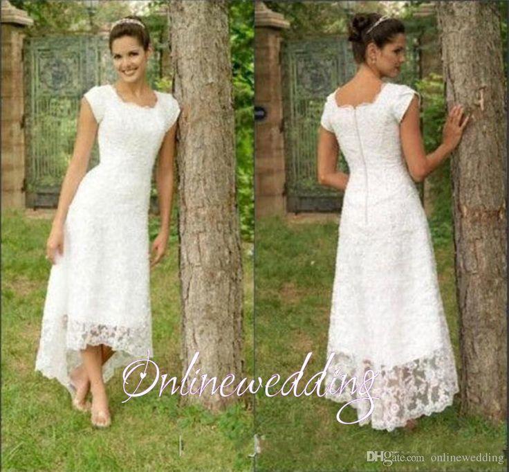 Simple Elegant Modest Lace Wedding Dress With Scallop Lace: 17 Best Ideas About Short Vintage Wedding Dresses On