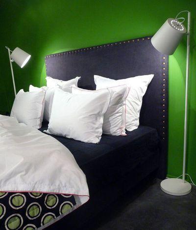 Une tête de lit en flanelle