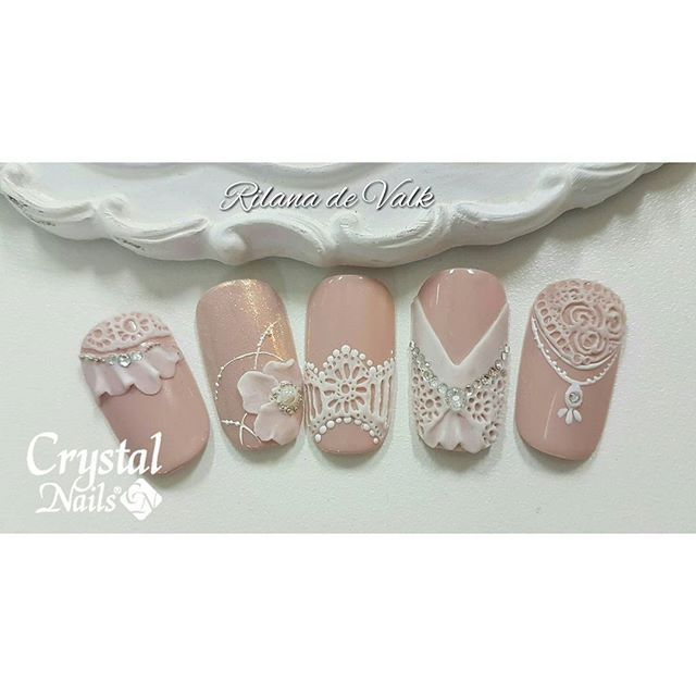 Lace gel #crystalnails #lacegel