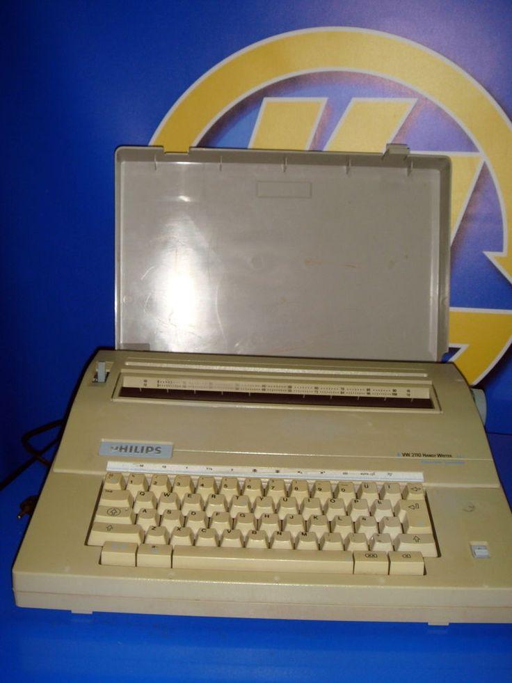Maquina de escribir electrica PHILIPS electric modelo VW 2110/16 handy writer