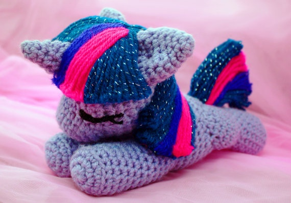 MLP Twilight Sparkle Sleeping Filly Plushie from My by SoapyBacon