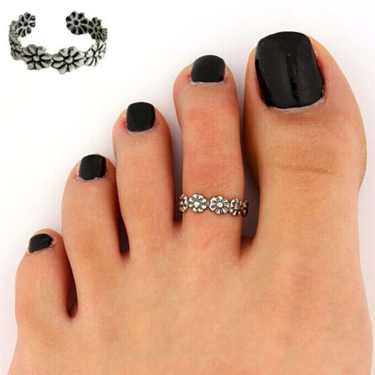 Foot Jewelry Beach Jewelry Vogue Adjustable Nice Chic Simple Silver Tone Retro Flower Summer Beach Toe Ring