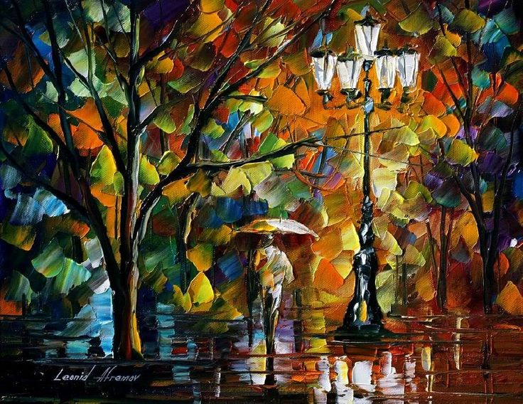the loneliness of autumn - original art oil painting on canvas by Leonid Afremov photo THELONELINESSOFAUTUMN12X16.jpg