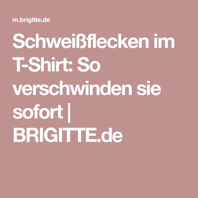Schweißflecken im T-Shirt: So verschwinden sie sofort | BRIGITTE.de