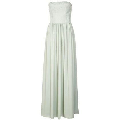 Mintfarbenes Kleid mit Spitze und Bustier ab 89,95€ ♥ Hier kaufen: http://stylefru.it/s81476 #maxikleid #mint #pastell #spitze #bustierkleid