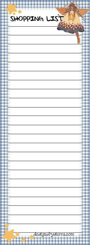 70 besten Printable To do Lists, Shopping Lists and Note Paper ...