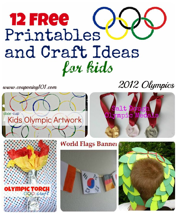 12 FREE Printables and Craft Ideas for Kids for the 2012 Olympic Games! Great collection of ideas!