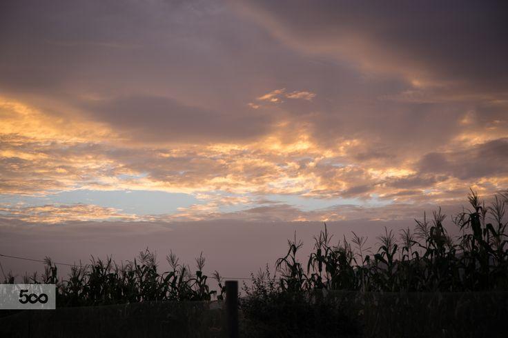 Cloudy and orange sunrise by Javier Cazorla Arrabal on 500px