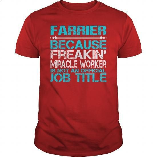 Awesome Tee For Farrier - #gift for teens #mens hoodie. ORDER NOW => https://www.sunfrog.com/LifeStyle/Awesome-Tee-For-Farrier-115951084-Red-Guys.html?60505