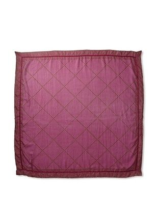 Michael Stars Women's Stippled Argyle Silk Square Scarf (Gem)