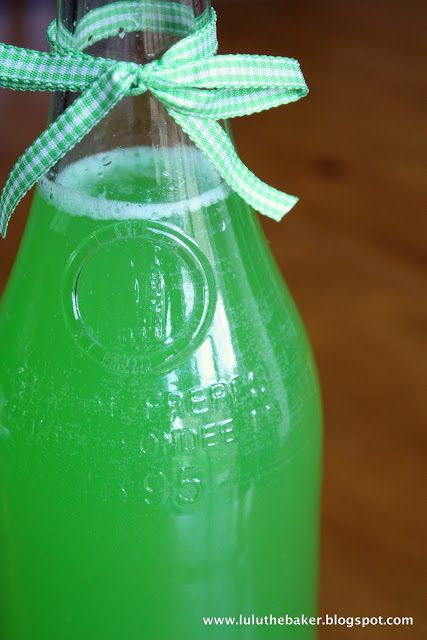 St. Patty's Day Punch Recipe- water, lemon-lime Kool-Aid powder, sugar, lemon-lime soda, citrus soda, pineapple juice.