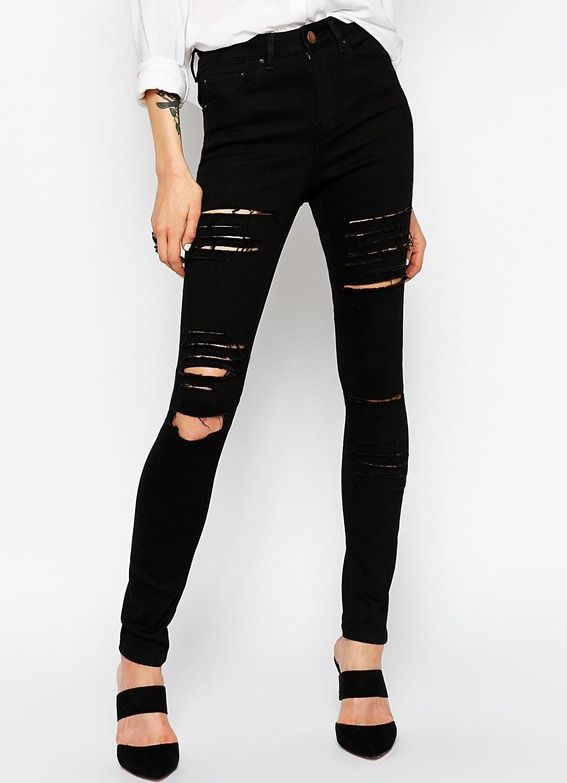 Black Slim Cut Out Pant $17.59