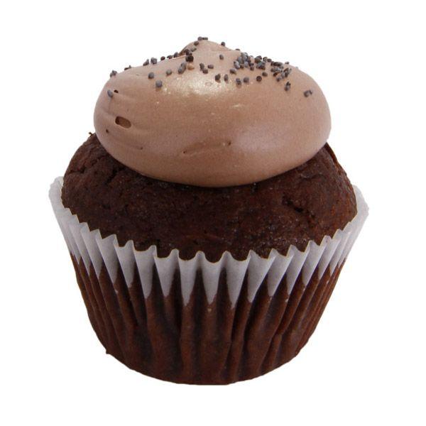 Un sabor diferente encontrarás en nuestro cupcake chocolate semi-amargo belga y cacao con un ganache de whisky, crema de chocolate , whisky y semillas de amapola.