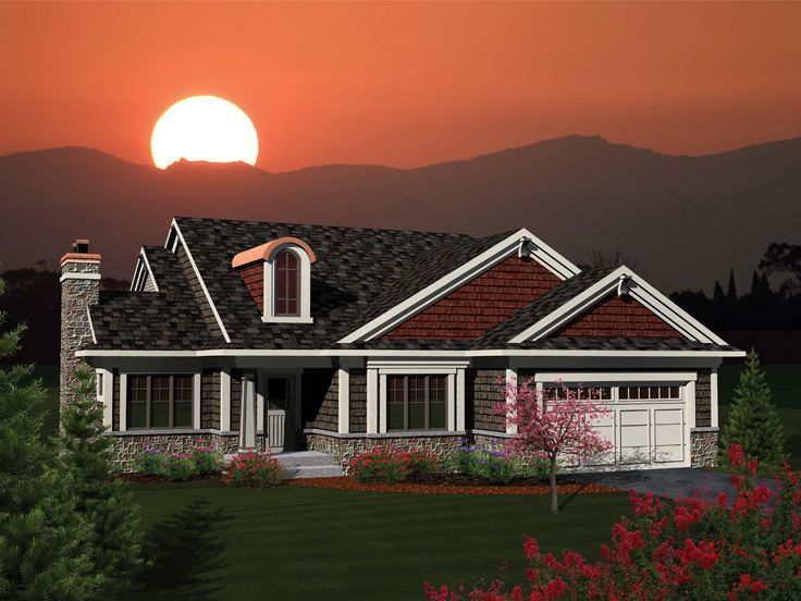 105 best Empty-Nester House Plans images on Pinterest | Ranch home ...