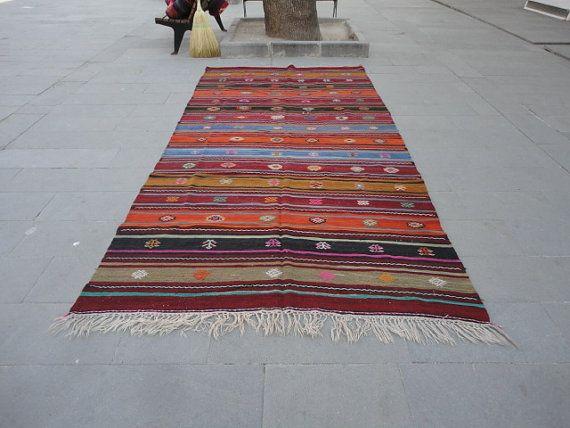 Kilim tapis turcs Vintage tapis de grande taille par hasovintagerug