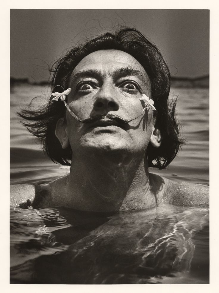 Dali in the water, Port-Lligat, 1953 (BM Lyon)