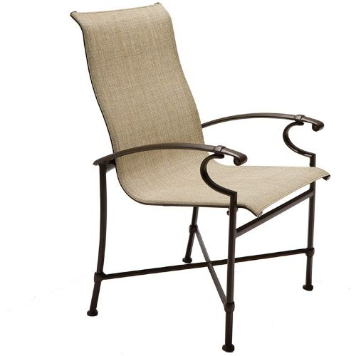 high back chair patio furniture round hanging winston charleston sling dining chairs at hayneedle outdoor pinterest and