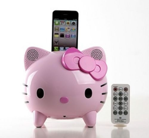 hello kitty Ipod dock -- with remote :O -- oh dear god