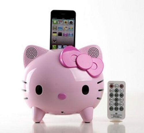 Hello Kitty Ipod Dock I am putting this on my Christmas list. Lol