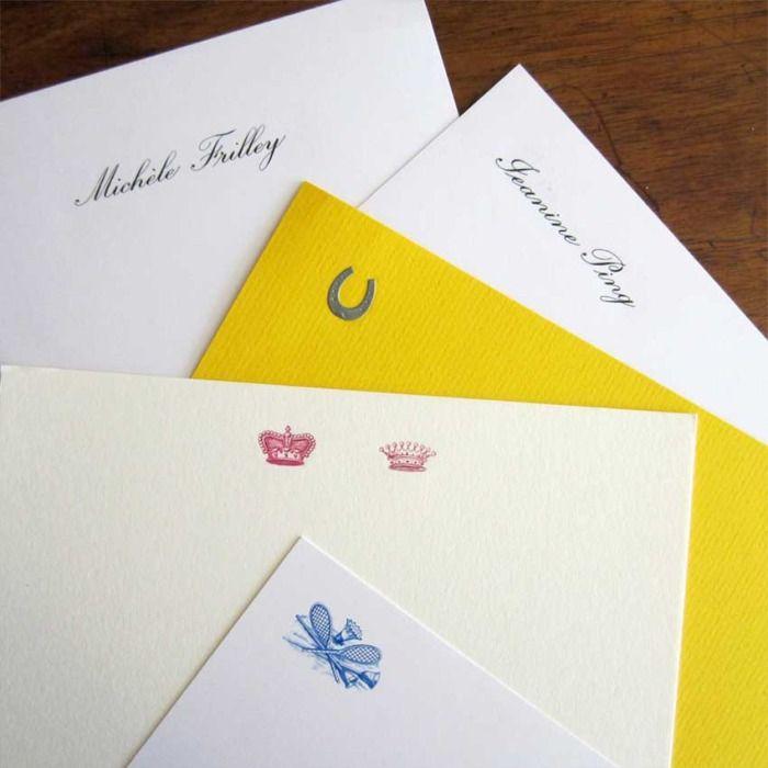 Custom written paper embosser gift set