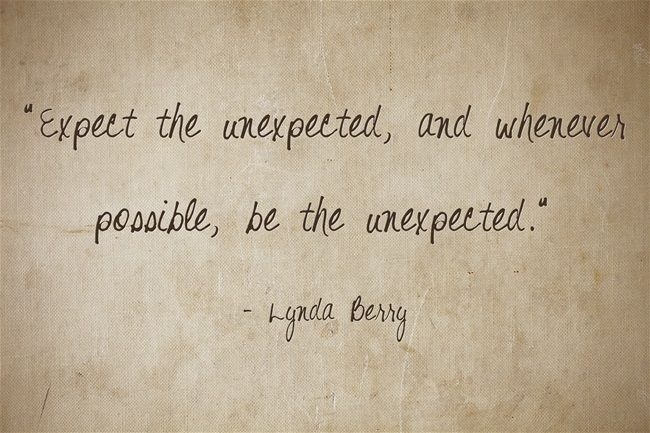 17 Best Unexpected Quotes On Pinterest