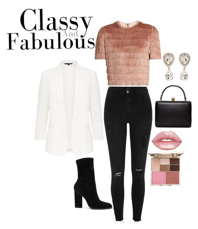 """Sin título #1"" by julygm on Polyvore featuring moda, Raey, River Island, Alexander Wang, Dolce&Gabbana, Alexander McQueen, Lime Crime y Stila"