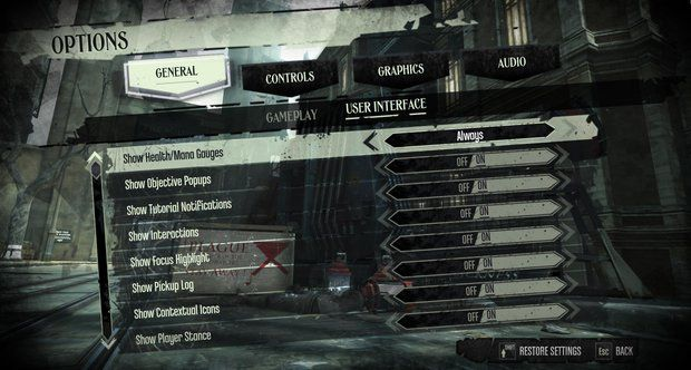 Dishonored's UI