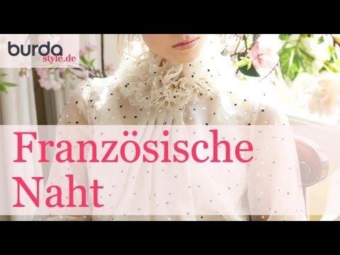 burda style: Französische Naht  – Video: burda style/Lena Klippel/Theresa Bachler
