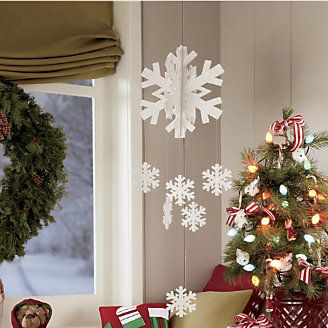 Snowflake Mobile from Through the Country Door®: Snowflakes Mobiles, Country Doors, Sparkle Mobiles