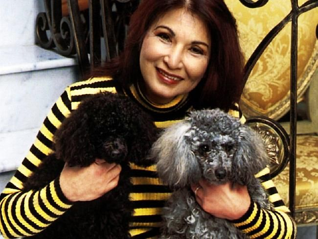 Socialite Rose Porteous With Her Poodles Dennis And Lulu Picture