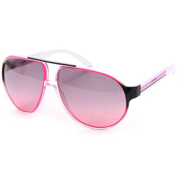 Carrera Sunglasses Pink For Ever Mine Carrera Sunglass 241690 Klu 62ff ❤ liked on Polyvore