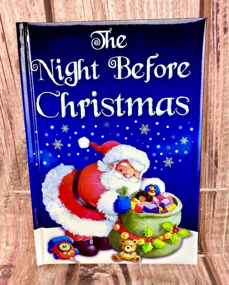 The Night Before Christmas Padded Christmas Story Book Stocking Filler Present